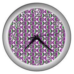 Retro Wall Clock (silver) by Siebenhuehner
