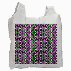Retro White Reusable Bag (one Side) by Siebenhuehner