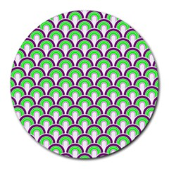 Retro 8  Mouse Pad (round) by Siebenhuehner