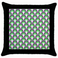 Retro Black Throw Pillow Case by Siebenhuehner