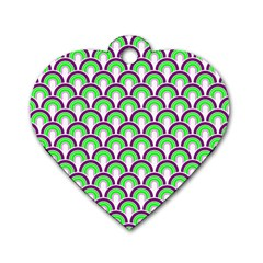 Retro Dog Tag Heart (two Sided) by Siebenhuehner