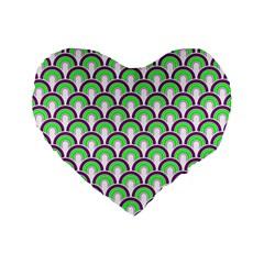 Retro 16  Premium Heart Shape Cushion  by Siebenhuehner