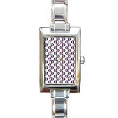Retro Rectangular Italian Charm Watch by Siebenhuehner