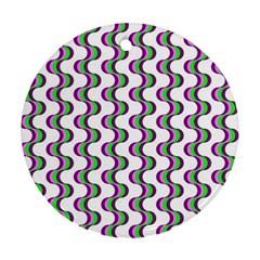 Retro Round Ornament (two Sides) by Siebenhuehner