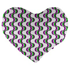 Retro 19  Premium Heart Shape Cushion by Siebenhuehner