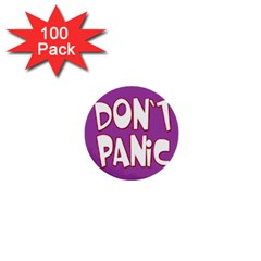 Purple Don t Panic Sign 1  Mini Button (100 Pack) by FunWithFibro