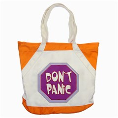 Purple Don t Panic Sign Accent Tote Bag by FunWithFibro