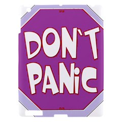Purple Don t Panic Sign Apple Ipad 3/4 Hardshell Case