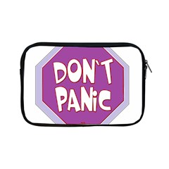 Purple Don t Panic Sign Apple Ipad Mini Zippered Sleeve by FunWithFibro