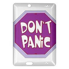 Purple Don t Panic Sign Kindle Fire Hd 7  (2nd Gen) Hardshell Case by FunWithFibro