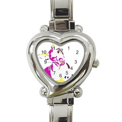 Untitled 3 Colour Heart Italian Charm Watch  by nadiajanedesign