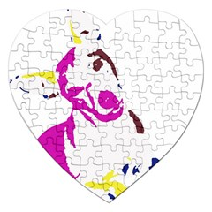 Untitled 3 Colour Jigsaw Puzzle (heart) by nadiajanedesign