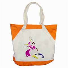 Untitled 3 Colour Accent Tote Bag by nadiajanedesign
