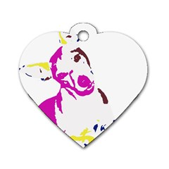 Untitled 3 Colour Dog Tag Heart (two Sided) by nadiajanedesign