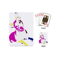 Untitled 3 Colour Playing Cards (mini) by nadiajanedesign