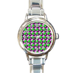 Pattern Round Italian Charm Watch by Siebenhuehner