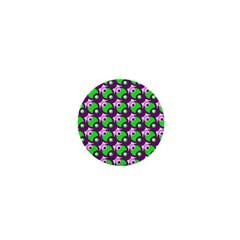 Pattern 1  Mini Button Magnet by Siebenhuehner