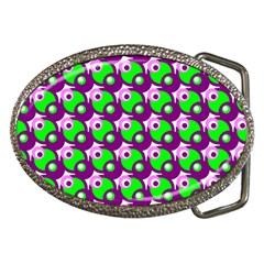 Pattern Belt Buckle (oval) by Siebenhuehner