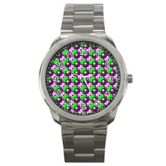 Pattern Sport Metal Watch by Siebenhuehner
