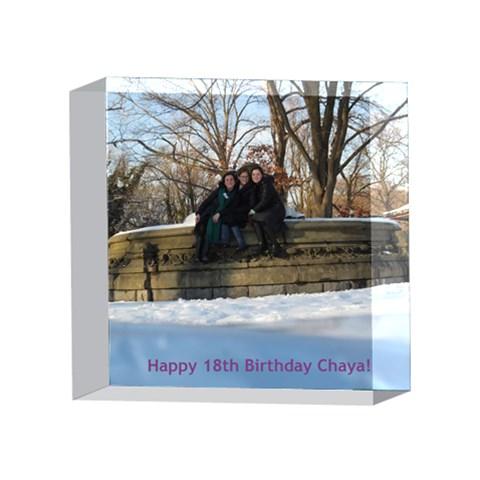 Chaya By Sara   4 x 4  Acrylic Photo Block   83rd3igmjepi   Www Artscow Com Front