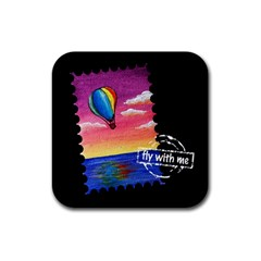 Trips In Hot Air Drink Coasters 4 Pack (square) by CaterinaBassano