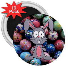 Easter Egg Bunny Treasure 3  Button Magnet (10 Pack) by StuffOrSomething