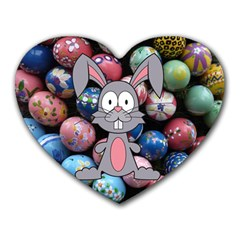 Easter Egg Bunny Treasure Mouse Pad (heart) by StuffOrSomething