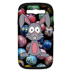 Easter Egg Bunny Treasure Samsung Galaxy S Iii Hardshell Case (pc+silicone) by StuffOrSomething