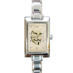 We The Anonymous People Rectangular Italian Charm Watch by StuffOrSomething