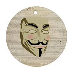 We The Anonymous People Round Ornament by StuffOrSomething