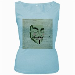 We The Anonymous People Women s Tank Top (Baby Blue) by StuffOrSomething