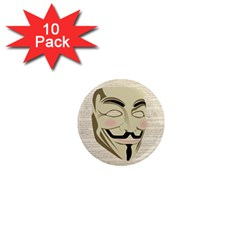 We The Anonymous People 1  Mini Button Magnet (10 Pack) by StuffOrSomething