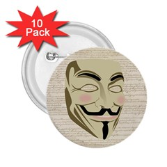 We The Anonymous People 2 25  Button (10 Pack) by StuffOrSomething