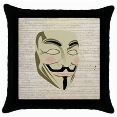 We The Anonymous People Black Throw Pillow Case by StuffOrSomething