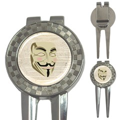 We The Anonymous People Golf Pitchfork & Ball Marker by StuffOrSomething