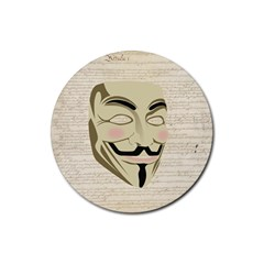 We The Anonymous People Drink Coaster (Round) by StuffOrSomething