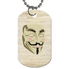 We The Anonymous People Dog Tag (one Sided) by StuffOrSomething