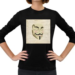 We The Anonymous People Women s Long Sleeve T-shirt (Dark Colored)