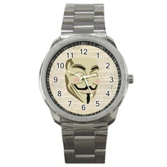 We The Anonymous People Sport Metal Watch by StuffOrSomething