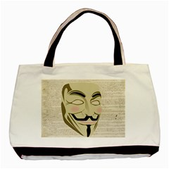 We The Anonymous People Twin Sided Black Tote Bag by StuffOrSomething