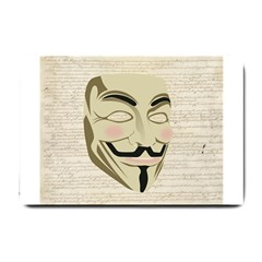 We The Anonymous People Small Door Mat by StuffOrSomething
