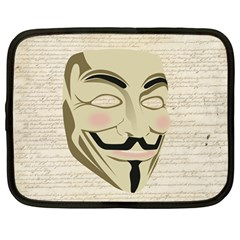 We The Anonymous People Netbook Sleeve (large) by StuffOrSomething