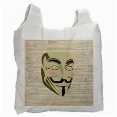 We The Anonymous People White Reusable Bag (One Side) by StuffOrSomething