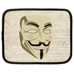 We The Anonymous People Netbook Sleeve (xl) by StuffOrSomething