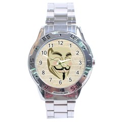 We The Anonymous People Stainless Steel Watch by StuffOrSomething
