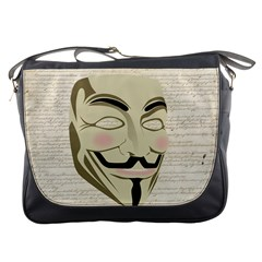 We The Anonymous People Messenger Bag by StuffOrSomething