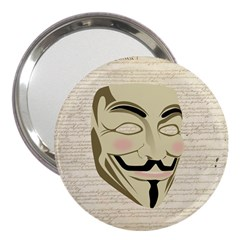 We The Anonymous People 3  Handbag Mirror by StuffOrSomething