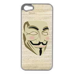 We The Anonymous People Apple Iphone 5 Case (silver) by StuffOrSomething