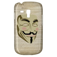 We The Anonymous People Samsung Galaxy S3 MINI I8190 Hardshell Case by StuffOrSomething