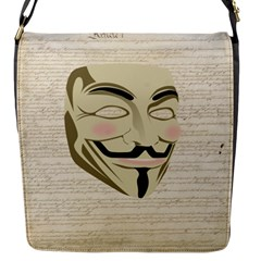 We The Anonymous People Flap Closure Messenger Bag (small) by StuffOrSomething